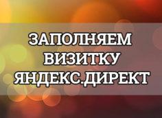 визитка яндекс директ